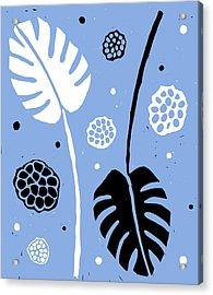 Fronds - Peri B/w Acrylic Print