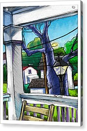 Front Porch Acrylic Print by Baird Hoffmire