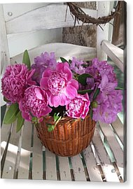 Front Porch Peonies Acrylic Print