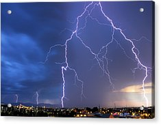 Front Range Lightning Acrylic Print by Dave Crowl