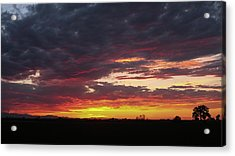 Acrylic Print featuring the photograph Front Range Sunset by Monte Stevens