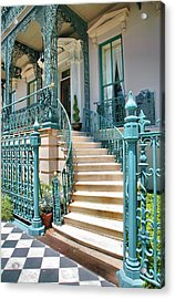 Front Steps To John Rutledge Home Acrylic Print by Steven Ainsworth