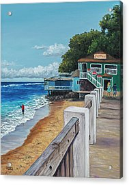 Acrylic Print featuring the painting Front Street Lahaina by Darice Machel McGuire