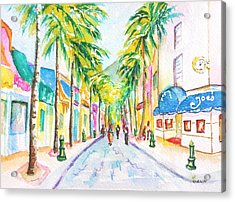 Front Street Philipsburg St. Maarten  Acrylic Print