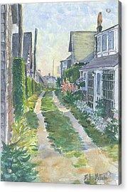 Front Street Siasconset Nantucket Acrylic Print