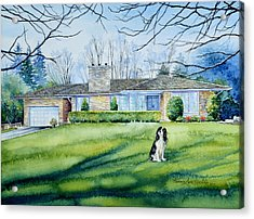 Front Yard Protection Acrylic Print by Hanne Lore Koehler