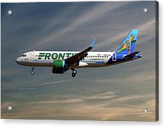 Frontier Airbus A320-251n 17 Acrylic Print