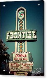 Frontier Hotel Sign, Las Vegas Acrylic Print