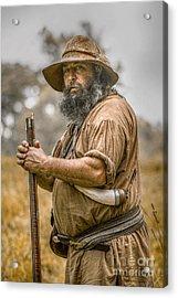 Frontiersman Portrait Acrylic Print by Randy Steele