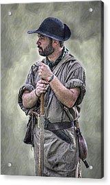 Frontiersman Ranger Scout Portrait Acrylic Print by Randy Steele