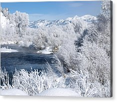 Frost Along The River Acrylic Print