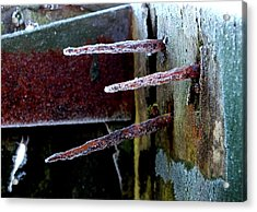 Frost And Rust Acrylic Print