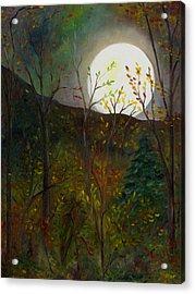Frost Moon Acrylic Print