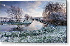 Frost On The Marshes Acrylic Print