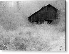 Acrylic Print featuring the photograph Frosted Barn by Rick Hartigan