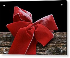 Acrylic Print featuring the photograph Frosted Bow by Nikolyn McDonald