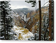 Acrylic Print featuring the photograph Frosted Canyon by Steve Stuller