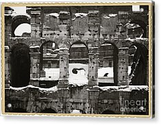 Frosted Colosseum In Rome Acrylic Print