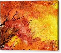 Frosted Fire II Acrylic Print by Irina Sztukowski