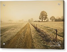 Frosted Road In Outback Australia Acrylic Print by Jorgo Photography - Wall Art Gallery