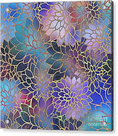 Acrylic Print featuring the digital art Frostwork Fantasy by Klara Acel