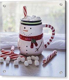 Acrylic Print featuring the photograph Frosty Christmas Mug by Kim Hojnacki