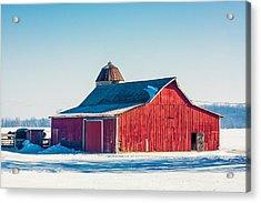 Frosty Farm Acrylic Print by Todd Klassy