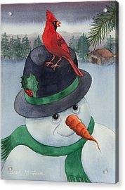 Frosty Friend Acrylic Print by Brad McLean