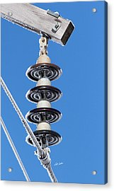 Acrylic Print featuring the photograph Frosty Industrial Insulator by Bill Kesler