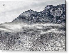 Snowy Grandfather Mountain - Blue Ridge Parkway Acrylic Print