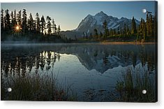 Acrylic Print featuring the photograph Frosty Picture Lake by Dan Mihai