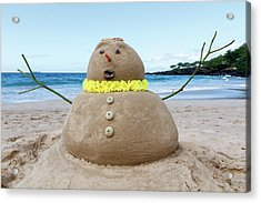 Frosty The Sandman Acrylic Print