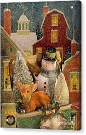 Frosty The Snowman Acrylic Print by Mo T