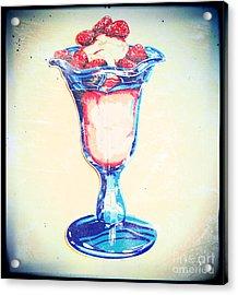 Frosty Vintage Strawberry Parfait Acrylic Print