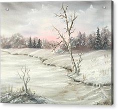 Frosty Winter Morning  Acrylic Print