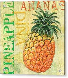 Froyo Pineapple Acrylic Print by Debbie DeWitt