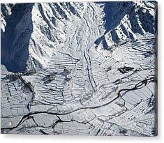 Frozen Afghan Village Acrylic Print
