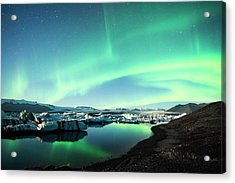 Acrylic Print featuring the photograph Frozen Auroras by Brad Scott