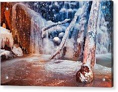 Frozen Avalon Fantasy Falls Acrylic Print by Nicolas Raymond