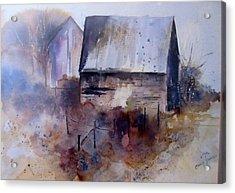 Frozen Barn Acrylic Print