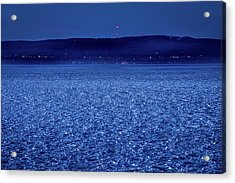 Acrylic Print featuring the photograph Frozen Bay At Night by Onyonet  Photo Studios