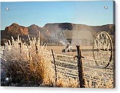 Frozen Blue Skies Acrylic Print