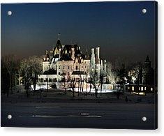 Frozen Boldt Castle Acrylic Print by Lori Deiter