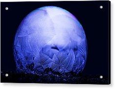 Frozen Bubble Art Blue Acrylic Print