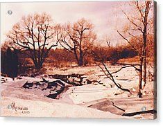 Frozen Creek Acrylic Print