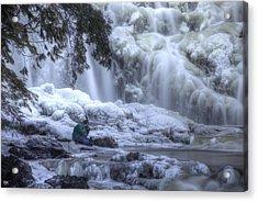 Frozen Falls Acrylic Print