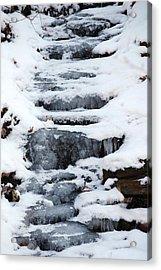 Frozen Falls Acrylic Print by Peter  McIntosh