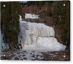 Acrylic Print featuring the photograph Frozen Falls by Ron Read