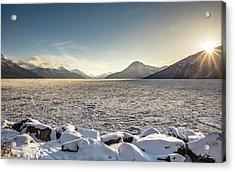 Frozen Fjord Sunrise Acrylic Print