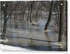 Frozen Floodwaters Acrylic Print